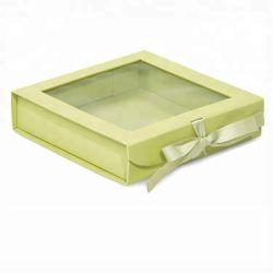 カスタマイズされた贅沢な色の印刷の灰色の板の宝石類のギフト箱ブレスレットかダイヤモンドのネックレス / リング箱 / イヤリング箱 / リボンが付いている頭部の装飾の包装紙箱