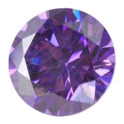 1mm Amethyst CZ runde Chemiefasergewebe CZ-Diamant-Schnitt CZ-Steinedelsteine