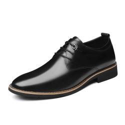 Dernière conception Bon Marché noir En cuir véritable Oxford hommes chaussures