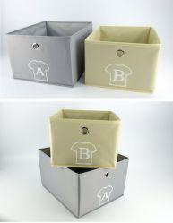 固体灰色非編まれたFoldableファブリック立方体の収納箱のバスケット