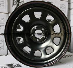 16 rotella d'acciaio nera di pollice 16X8 15X8.0 15X10 15X12 16X7.0 16X12 17X8.0 Daytona