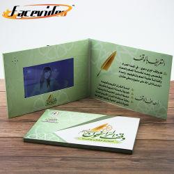 Facevideo großer 7inch HD LCD Fernsehapparat in einer Karten-Beispielvideobroschüre-Baugruppe für Produkt-Einladung