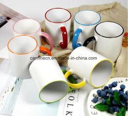 도매 승화 컵, 안 및 색깔 승화 찻잔, 최상 입히는 찻잔을%s 가진 변죽