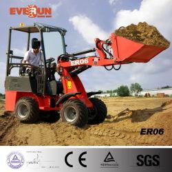 Marca Everun 0.6Ton er06 Pequenas com certificado CE carregadora de rodas