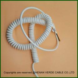 0,75 mm 1.0mm de gros de la vente directe d'usine de cuivre isolé PVC PUR cable spirale électrique