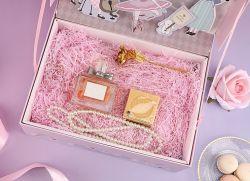 소녀 분홍색 음악 선물 상자, 화장품 부속품 선물 상자