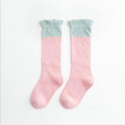 얇은 모기 냉담한 면 메시 Breathable 분홍색 스타킹 양말
