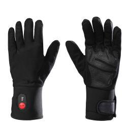 Аккумулятор из натуральной кожи Windfproof перчатки с подогревом гильз для использования внутри помещений\свежем воздухе перчатки повседневной рабочей перчатки перчатки во время движения