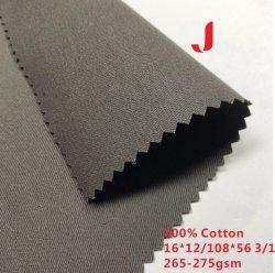16*12/108*56 265-275GSM kundenspezifisches Twill-Baumwolltuch-Gewebe verwendet für Arbeits-Kleidung