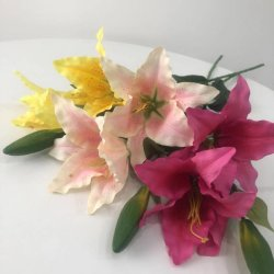 Coloridas Flores artificiales Lily