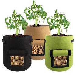 A China fez durável tecido PE Flor de batata a plantadeira crescer Saco de Plantio Pot