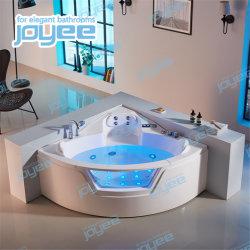 Diseño clásico Joyee barata masaje hidromasaje bañera con cascada