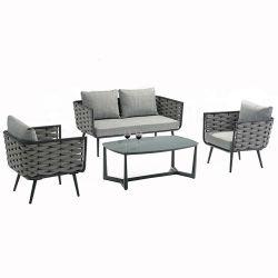Renel своим модным дизайном плетеной ручной работы плетение для отдыхающих шезлонге патио с садом диван, стол стулья из ротанговой пальмы веревки из садовой мебелью для дома в гостиной отеля