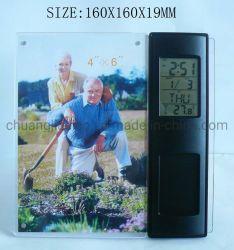 Cadre Photo de bureau avec Calendrier Horloge et minuterie pour la décoration