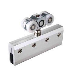 Puerta de aluminio de alta calidad de los rodillos de deslizamiento de piezas para puerta de vidrio/cristal sin cerco puerta deslizante Accesorios Hardware Roller
