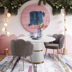 現代ホーム家具のレストランの家具のビロードの金食事の椅子