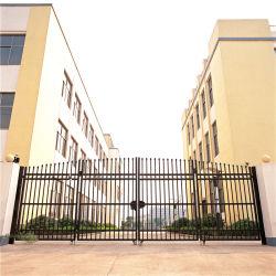 Dernières conceptions de la porte principale et de haute qualité d'acier galvanisé recouvert de PVC Anti-Climb Clôture de jardin