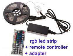 Kit 5m 10m 5050 della striscia di RGB LED 3528 SMD RGB LED Strip+Remote+Adapter