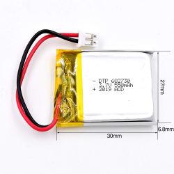 工場は直接Dtp682730 3.7V 550mAhのリチウムポリマー電池を販売する