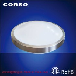 Localização húmido iluminação LED Microondas Sensor de movimento guarnição metálica Lâmpada de Teto com ETL Norma ISO9001
