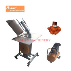 Elektrische Plantaardige Netto Clipper van de Zak Machine/de Oranje Nietmachine van de Verzegelaar van de Zak van het Netwerk/het Knippen van de Zak van de Ui van de Aardappel de Netto Machine van de Verpakking
