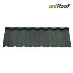 La construction de toiture en métal recouvert de pierres de couleur feuille tuile de toit