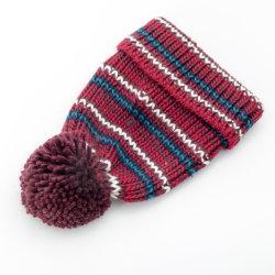 Women's 100%acrylique Islande laine tricotés Multi Colour Stripe Fashion Hat