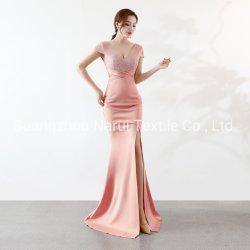 Haut Split paillettes perles Mesdames robe de soirée partie 16025# d'usure