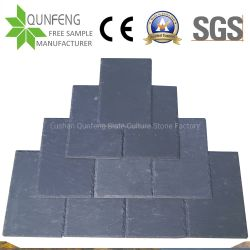 Mattonelle di tetto di pietra nere naturali di superficie spaccate dell'ardesia della Cina
