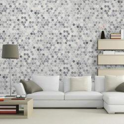 Cinza/Branco pedra mármore Mosaico para a parede do fundo do painel/piso de azulejos de parede/Flooring/Quadros