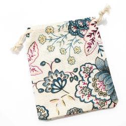 小さい綿および麻布の宝石類のパッケージのドローストリング袋