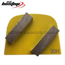 Beton-Bonddiamant-reibende Segmente des Metall6-400# verwendet auf Lavina Concere Fußboden