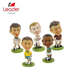 Design OEM de alta qualidade futebolista cabeça de Agitação Bobblehead Figurine futebolista