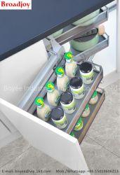 Küche-Regal-Edelstahl-Speicher-Regal-/Store-Bildschirmanzeige-Eckbefestigungs-Standplatz-/Spice-Organisator-/Utensil-doppelte Zahnstangen