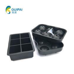 Sfera di ghiaccio stabilita del silicone del cassetto del cubo di ghiaccio della muffa del ghiaccio del silicone dell'articolo da cucina per la barra