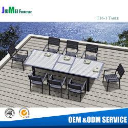 Im Freien Aluminiummöbel dehnen Tisch mit Polywood Teakholz-Tisch-Laptop aus (T16