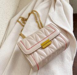 Мода сшивка провод фиолетового цвета кожи Уважаемые сумки с планку цепи