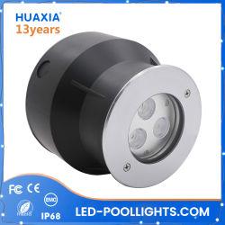 316ss vertieftes Unterwassertiefbaulicht des IP68 Swimmingpool-LED der lampen-3W 9W