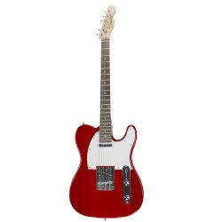 Datang des instruments de musique d'usine Tele guitare rouge transparente
