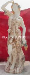 La talla de piedra de mármol exterior Mujer hermosa decoración de Jardín de Esculturas Mfsg-92
