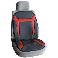 O PVC preto Carro de couro a almofada do assento com olhal Vermelho Fabric