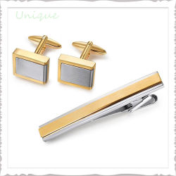 Kundenspezifisches Form-Metall macht Stulpe-Link-Taste Gemelos Hochzeits-Silber-GoldEdelstahl-Messingmanschettenknopf für Hemd-Kleid-Dekoration in Handarbeit