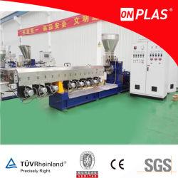 Procesamiento de la máquina extrusora de plástico LDPE hojuelas en pellets