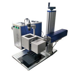 귀금속 부품, 전자 부품을 위한 20W 30W 파이버 레이저 포장 기계(CCD 카메라 위치 지정 시스템 포함
