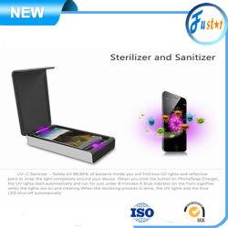 Sterilizzatore/igienizzatore per telefono con sportellino a luce UV C ad alta efficienza Accessori per telefoni cellulari con caricabatteria wireless