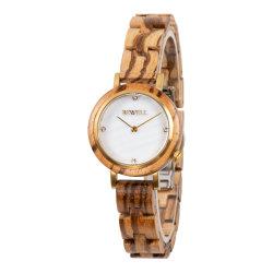 El diseño más reciente reloj de pulsera reloj de madera de alta calidad relojes de madera para dama