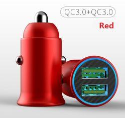 Nova QC 3.0+QC 3.0 18W+18W carregador veicular carregador USB