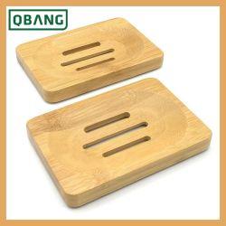 Venda de produtos de banho quente de bambu natural sabonetes prato suporte de armazenamento