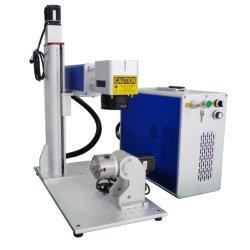 Raycus Jpt 20W 30W 50W Mopa Farben-Faser-Metalllaser-Markierungs-Ausschnitt-Gravierfräsmaschine mit Dreh