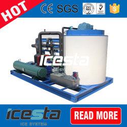 Icesta 50 Tonnen-Salzwasser-Flocken-Maschine das 1 Tonnen-5000kgs bilden Eis